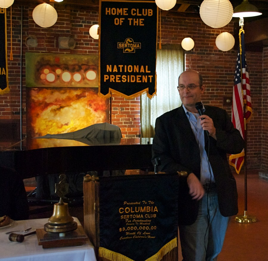 Steve Varholy of WXRY in Columbia gave a fascinating presentation on local and corporate radio