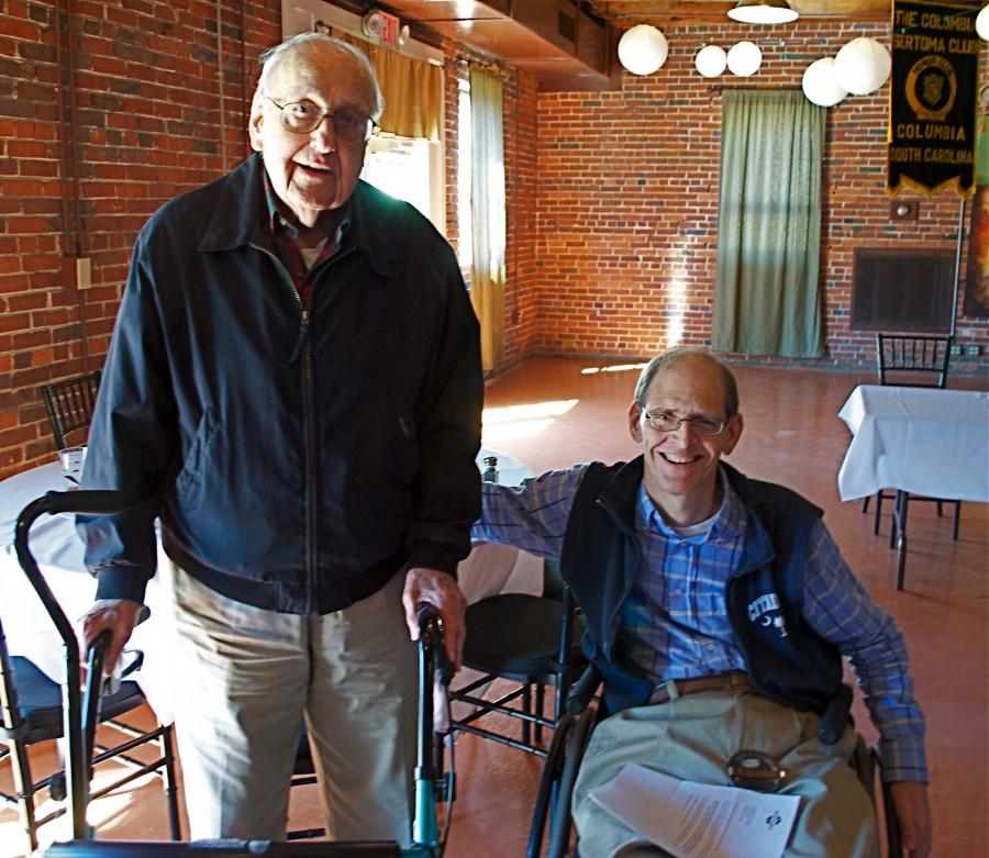 Bob van Doren with Columbia Sertoma Chairman Danny Williams