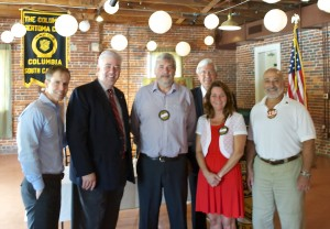 New board members, left to right: Todd Lewis, Dan Felker, Martin Izett, Carrie Deaton, Chris Weston and Joe Azar.