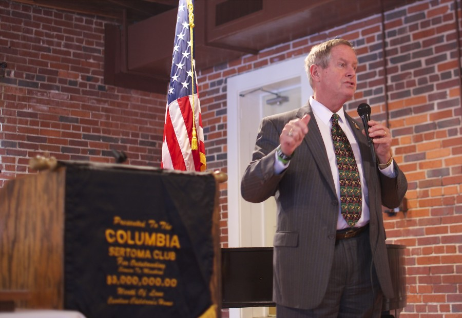 Joe Wilson, US House Representative, addressed the club and took questions from attendees.