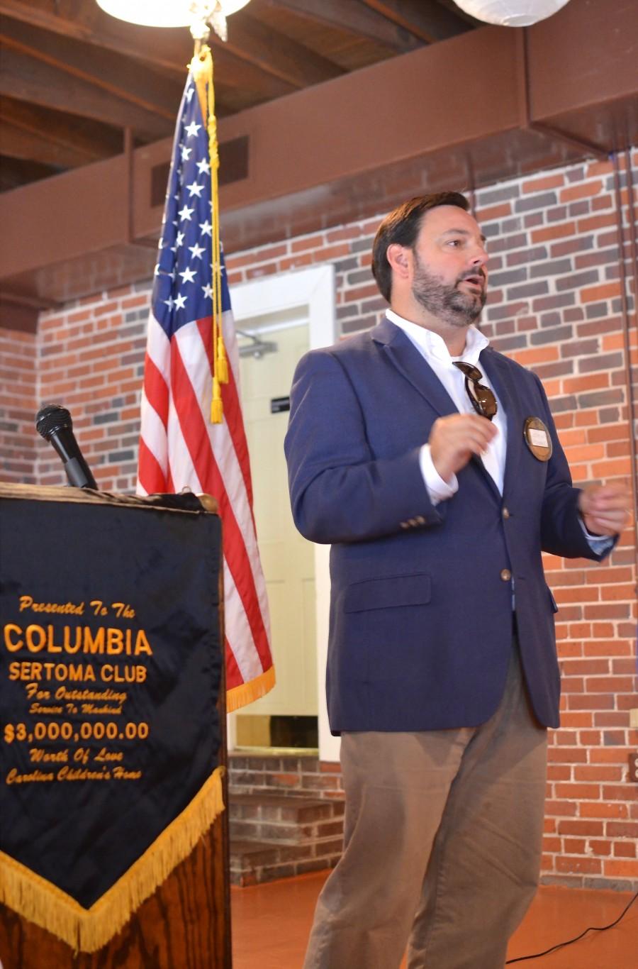 Club President John Adams Speaks to Attendees